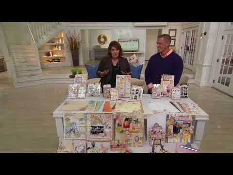 Bo Bunny Paper, Embellishment, and Stamp Bundle Set on QVC