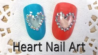 Heart Negative Space Nail Art …