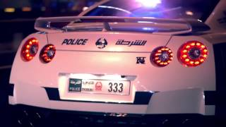 Dubai police car in 4k-for car fans