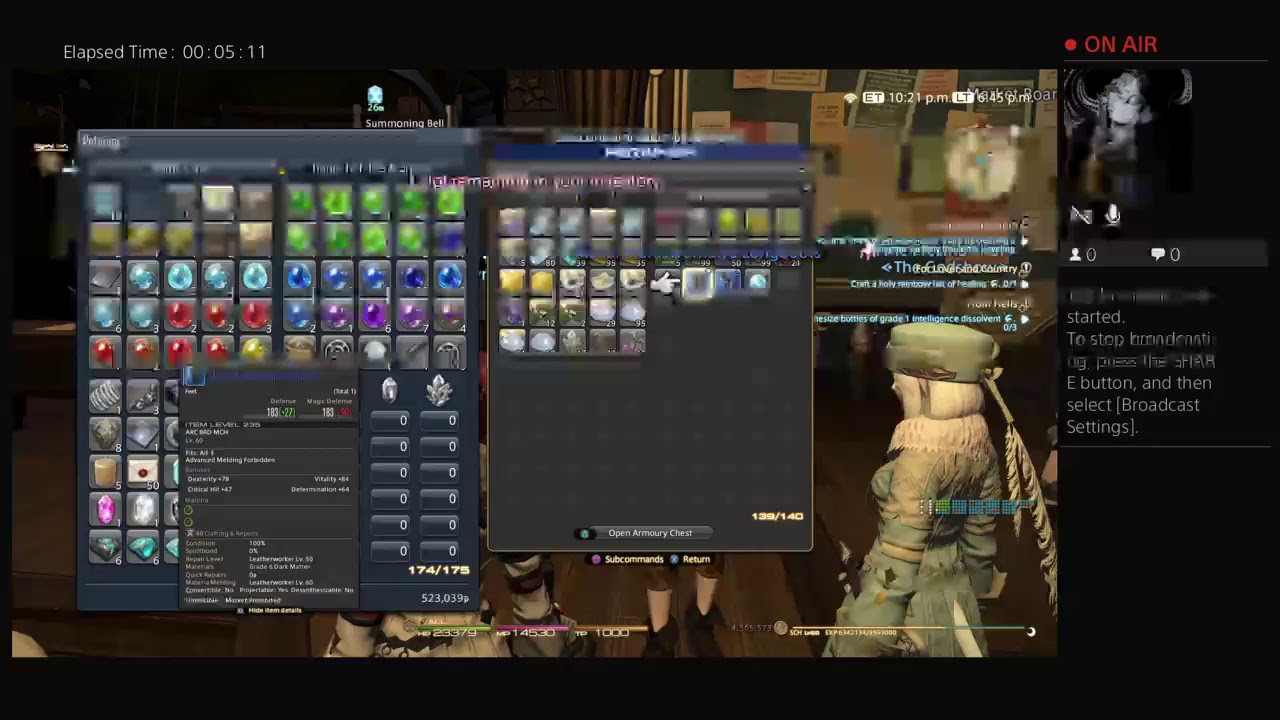 Live PS4 FF14 Broadcast: Completing Anima Weapon Density Farming