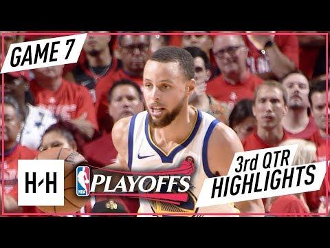 Golden State Warriors vs Houston Rockets - Game 7 - 3rd Qtr Highlights | 2018 NBA West Finals