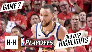Golden State Warriors vs Houston Rockets - Game 7 - 3rd Qtr Highlights | 2018 NBA West Finals