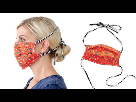 SEW DIY FABRIC FACE MASK, Adult + Child size