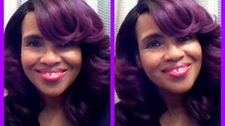 BRAND NEW!! ZURY SIS LACE FRONT WIG FERRY -  SOM LILLY PURPLE