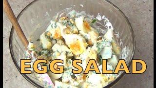 Easy Egg Salad 4 Ingredient Video Recipe Cheekyricho