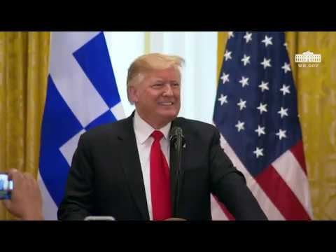 President Trump Attends the Greek Independence Day Celebration