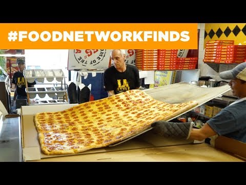 World's Largest Delivery Pizza | Food Network