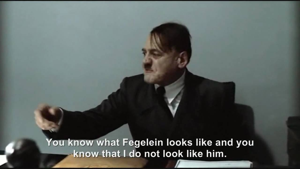 "Hitler is asked ""Are you Fegelein?"""
