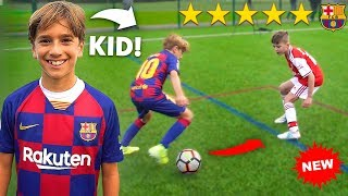 I Challenged KID Footballers To a PRO Football Competition (10 YEAR OLD MESSI)