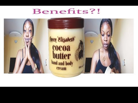 BENEFITS OR DANGERS....(QUEEN ELIZABETH COCOA BUTTER HAND AND BODY CREAM) | REVIEW