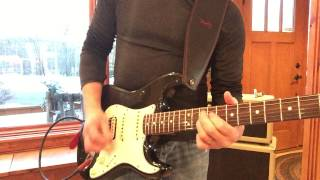 2014 1965 Fender Custom Shop Strat Relic Black with EVH Humbucker Eddie Vegas