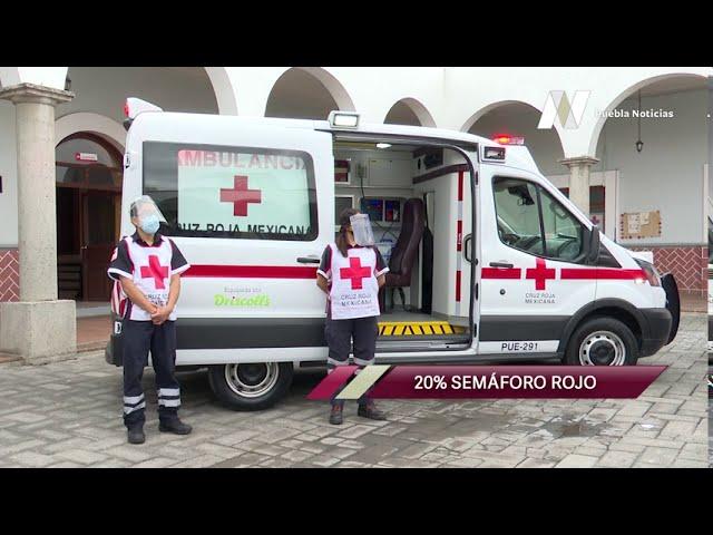 Empresa dona equipamiento para ambulancias de la Cruz Roja en Puebla.