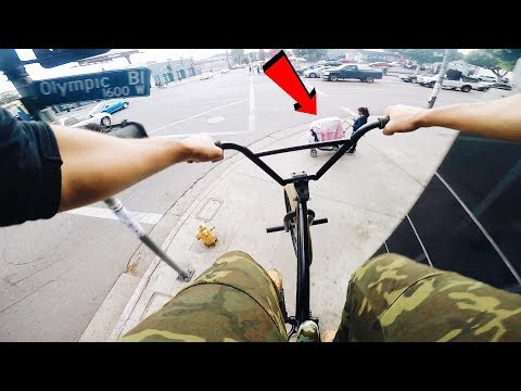 RIDING BMX ALL OVER BEVERLY HILLS (BMX IN THE HOOD)