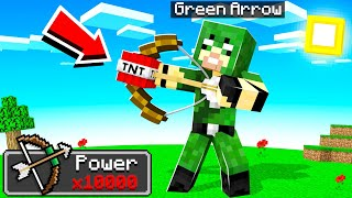 Playing MINECRAFT As GREEN ARROW!