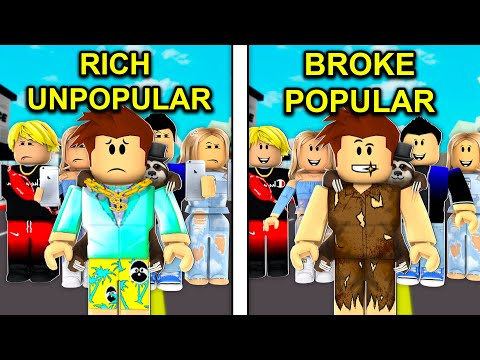 RICH Unpopular Kid To BROKE Popular Kid.. (Roblox Brookhaven)
