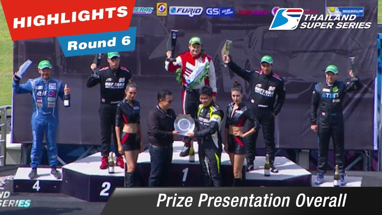 Prize Presentation Overall Thailand Super Series 2017 : 6 @Chang International Circuit