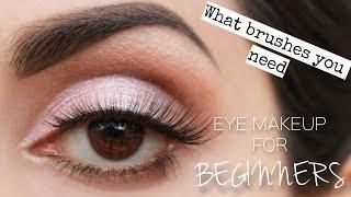 Eye makeup for BEGINNERS | Easiest way to learn | Urdu/Hindi