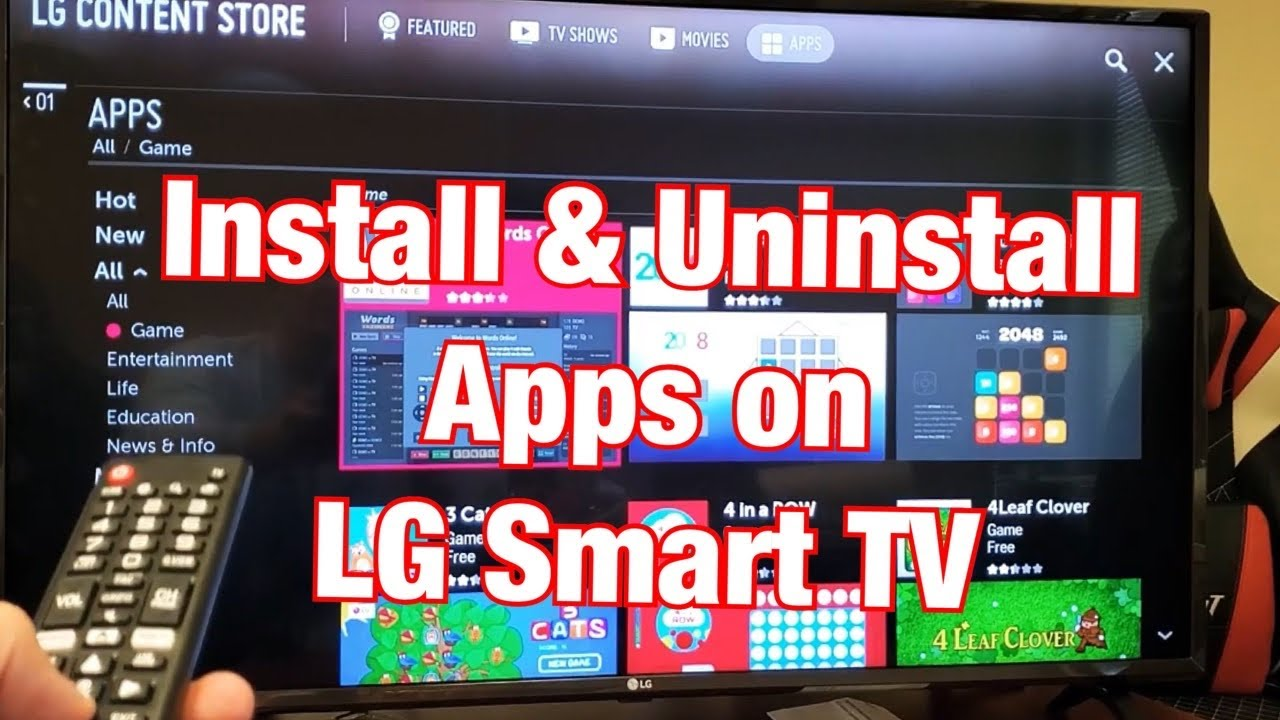 Lg Smart Tv How To Install Uninstall Apps Youtube