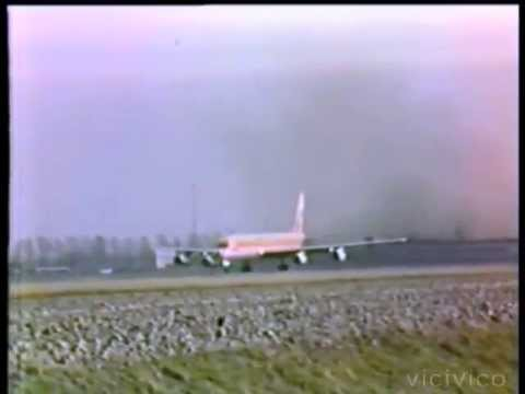 DC8 63 Surinam Airways  Take off from Amsterdam airport  11 March 1989