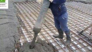 как залить бетонную плиту, как сделать бетонные перекрытия.(В этом видео я заливаю плиту на профилированный настил Н-75, плита является перекрытием между первым и вторы..., 2016-03-30T15:43:03.000Z)