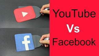 PANCAKE ART CHALLENGE - YouTube Vs Facebook by Tiger Tomato