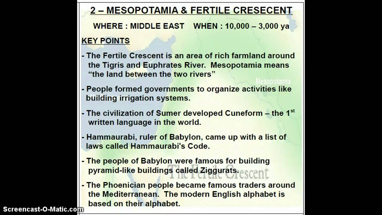 6th Grade Mesopotamia And The Fertile Cresent - Lessons - Tes Teach