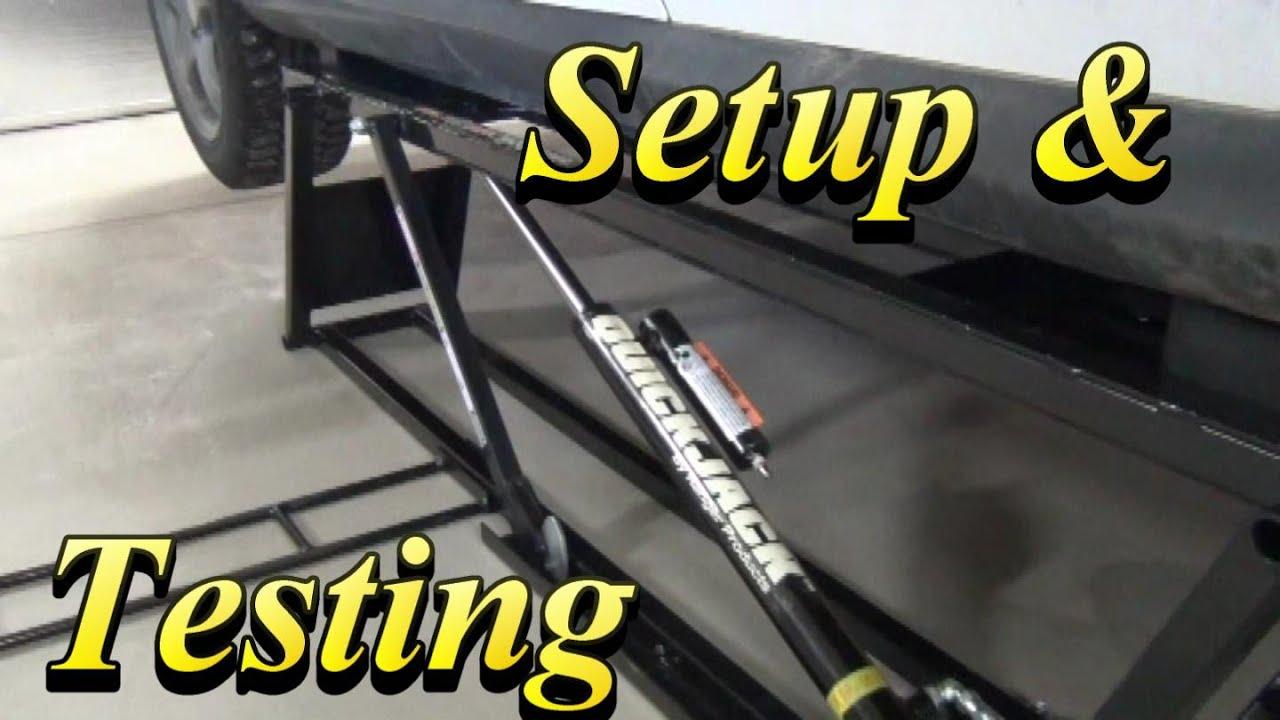 quickjack bl 5000slx setup testing doovi. Black Bedroom Furniture Sets. Home Design Ideas