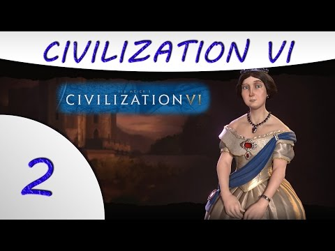 Civilization 6 Gameplay -Part 2- England - Victoria - Culture Victory