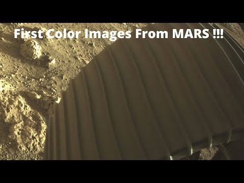 NASA's Perseverance Rover Sends First Color Photo from Mars | New Update From NASA Rover |