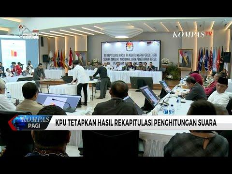 Final! KPU Tetapkan Hasil Rekapitulasi Penghitungan Suara