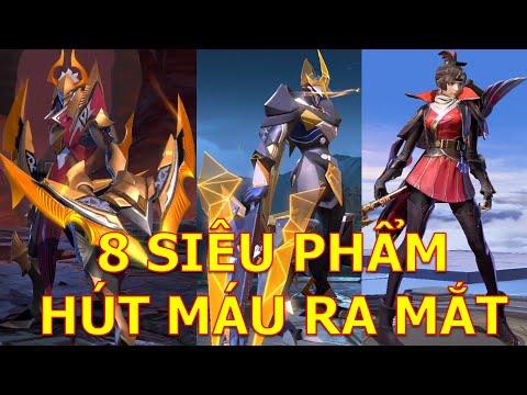 Full hiệu ứng 8 trang phục siêu phẩm ra mắt: Nakroth Quán quân, Triệu Vân kị sĩ tận thế...