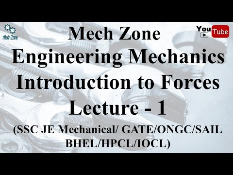 Engineering Mechanics Lecture 1: Introduction to forces & fo