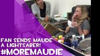 Fan sends Maude a lightsaber... And she cries
