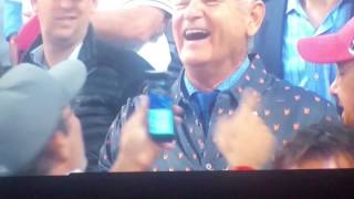 Chicago Cubs Win World Series Players Reaction Bill Murray reaction Cubs win world series