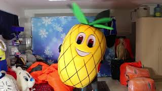 Pineapple mascot costume for advertising healthy food market   Mascot custom made