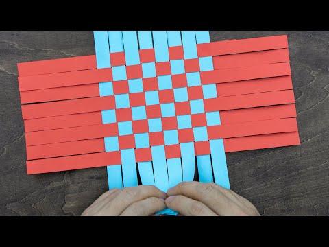 Paper Weaving Basket | How To Make A Paper Easter Basket | DIY Easter Basket
