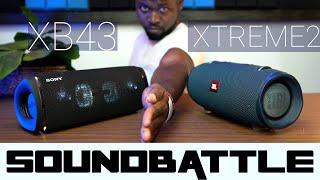 Sony SRS XB43 vs JBL Xtreme 2   Sound Battle   😮speechless🤐 With Sound Sample!