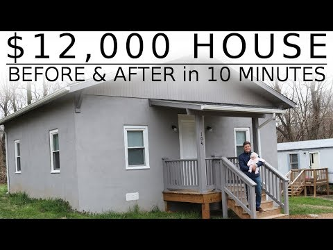 $12,000 HOUSE – One Man Renovation