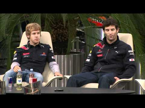 Formula 1 World Champion 2010 - Red Bull Racing - Live Programme Press Conference at Salzburg