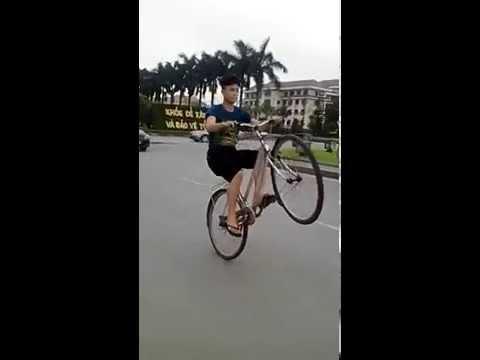 Bốc đầu xe đạp Youtube