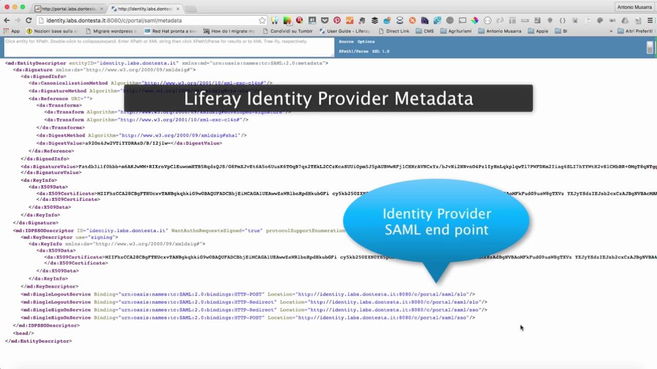 Demo SSO SAML Liferay as Identity Provider