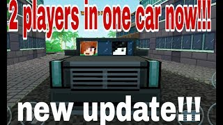 2 players in one car!!!  Update !!! Block city wars players can share cars