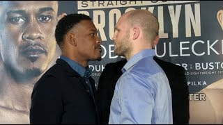 THE MIRACLE MAN! - DANNY JACOBS v MACIEJ SULECKI - HEAD TO HEAD @ PRESS CONFERENCE (w/ EDDIE HEARN)