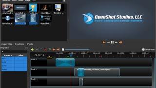 Обзор и первое видео в openshot