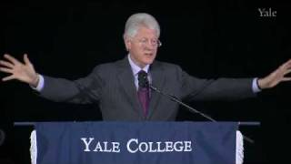 Yale University Class Day Speaker, President Bill Clinton