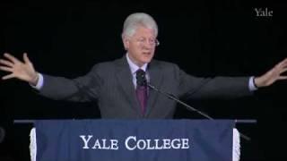 Yale University Class Day Speaker, President Bill Clinton