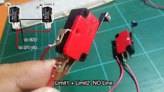 2 limit switches wiring using same pin Arduino