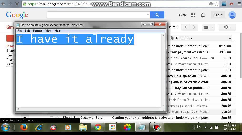 Create Gmail Account Fast >> How To Create A Gmail Account Fast Youtube