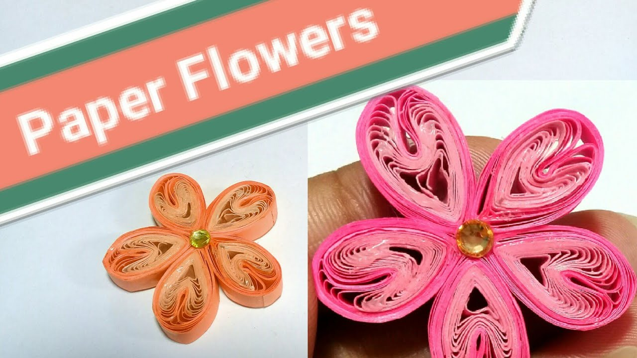 Beautiful Flower Paper Craft Paper Quilling Tutorial Woman