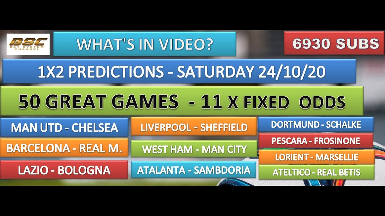 fixed odds betting football predictions